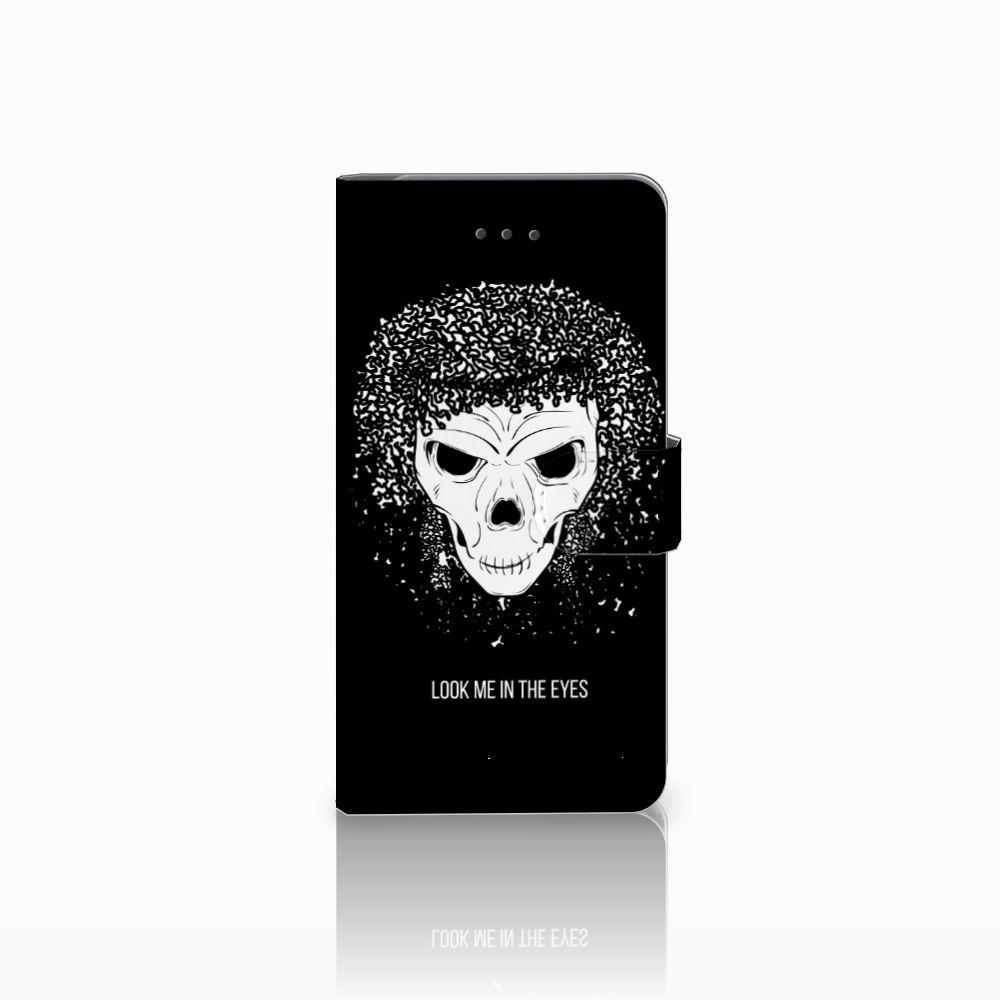 Samsung Galaxy J7 (2018) Uniek Boekhoesje Skull Hair