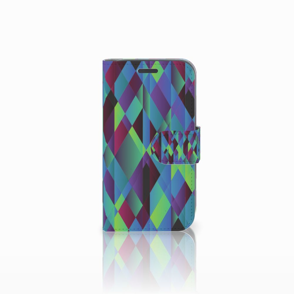Samsung Galaxy J1 2016 Bookcase Abstract Green Blue