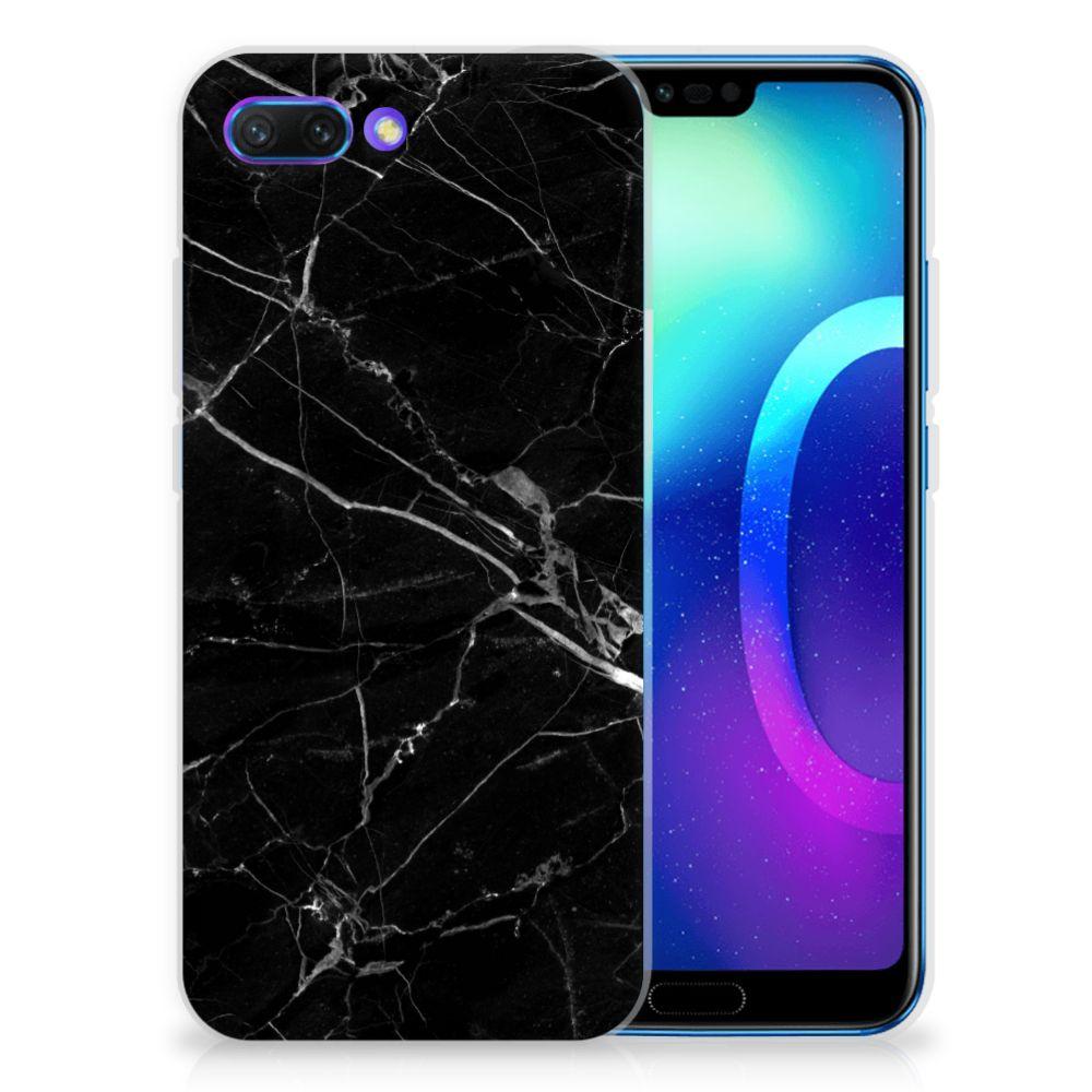 Huawei Honor 10 Uniek TPU Hoesje Marmer Zwart