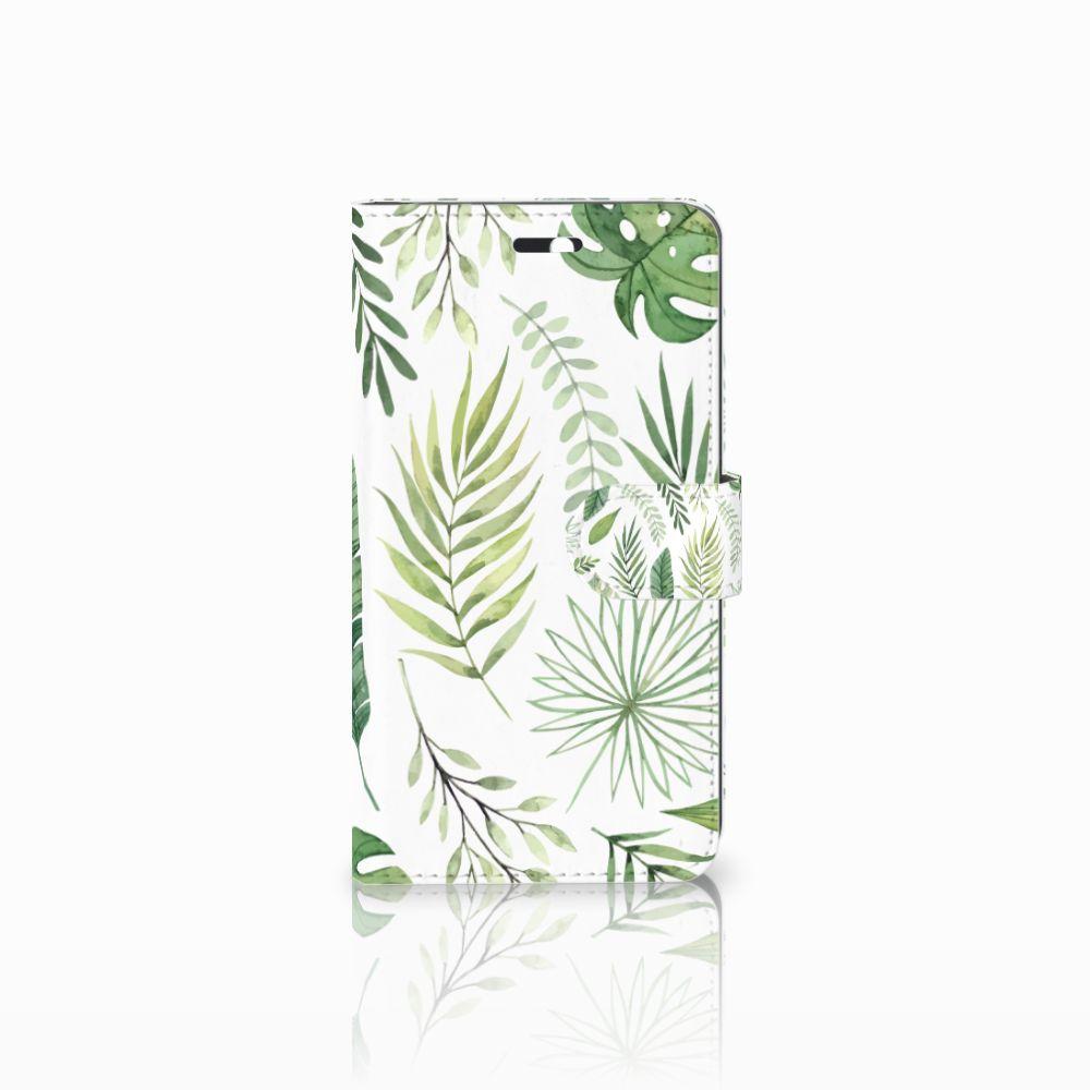 Huawei Y6 II | Honor 5A Uniek Boekhoesje Leaves
