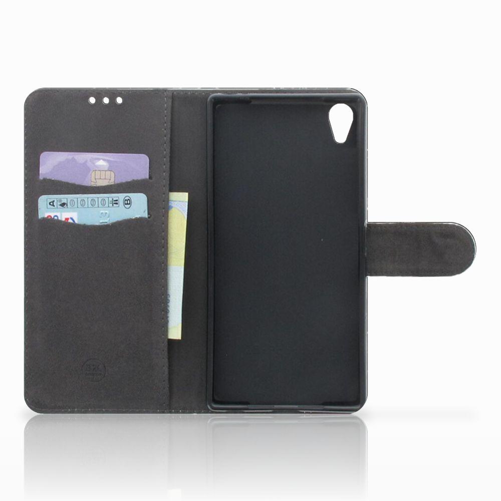 Sony Xperia Z5 Premium Bookcase Marmer Zwart