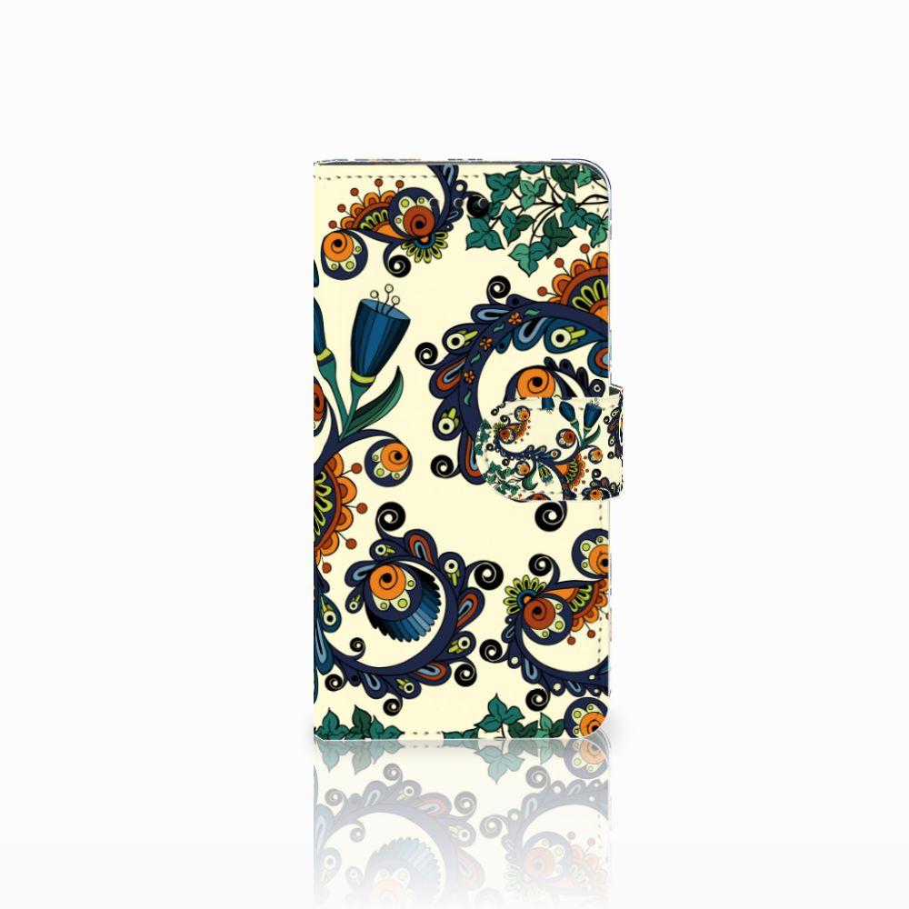 Wallet Case Huawei Y5 2018 Barok Flower