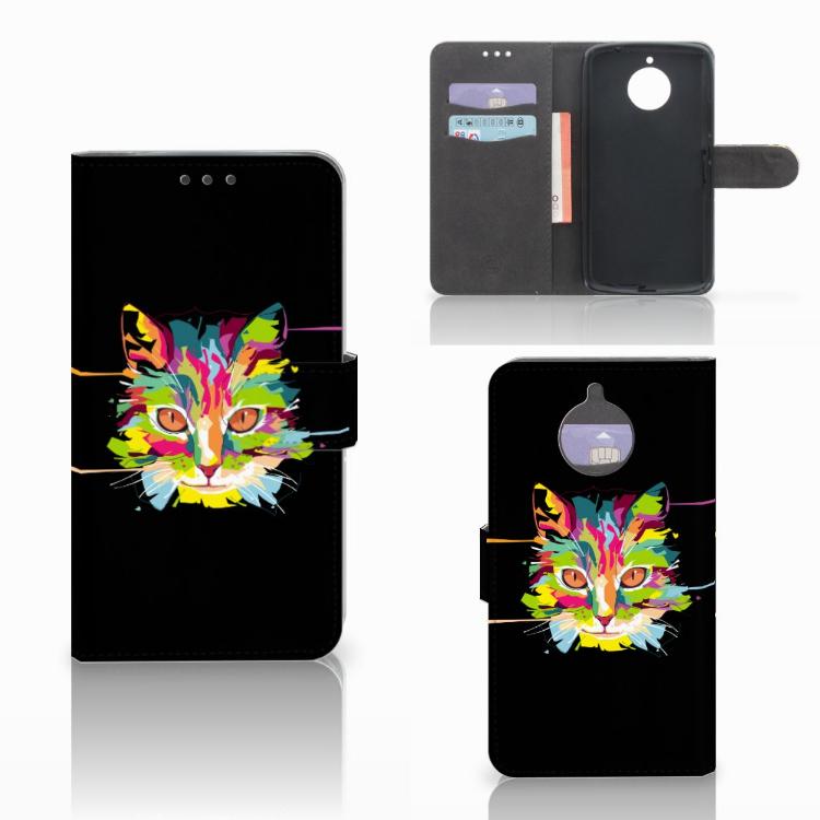 Motorola Moto E4 Plus Leuke Hoesje Cat Color