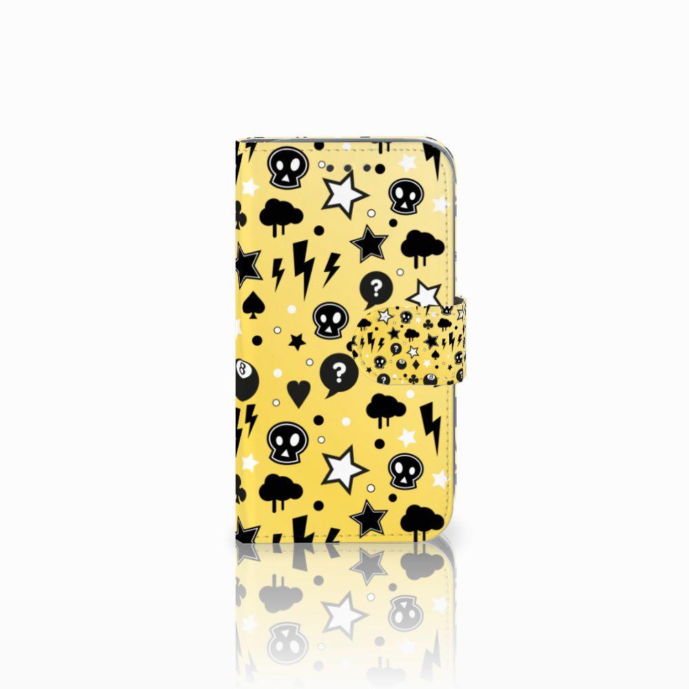 Samsung Galaxy Core Prime Uniek Boekhoesje Punk Yellow