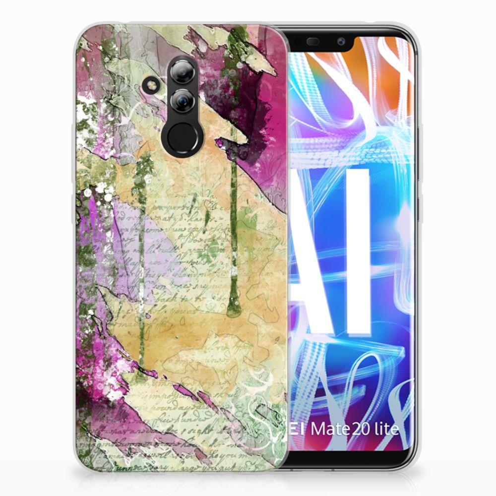 Huawei Mate 20 Lite Uniek TPU Hoesje Letter Painting