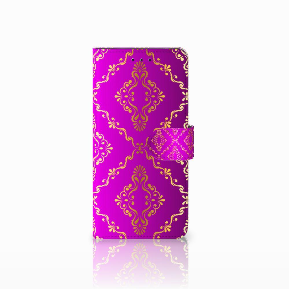Motorola Moto E5 Plus Uniek Boekhoesje Barok Roze