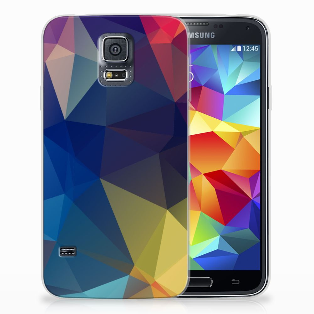 Samsung Galaxy S5 TPU Hoesje Polygon Dark