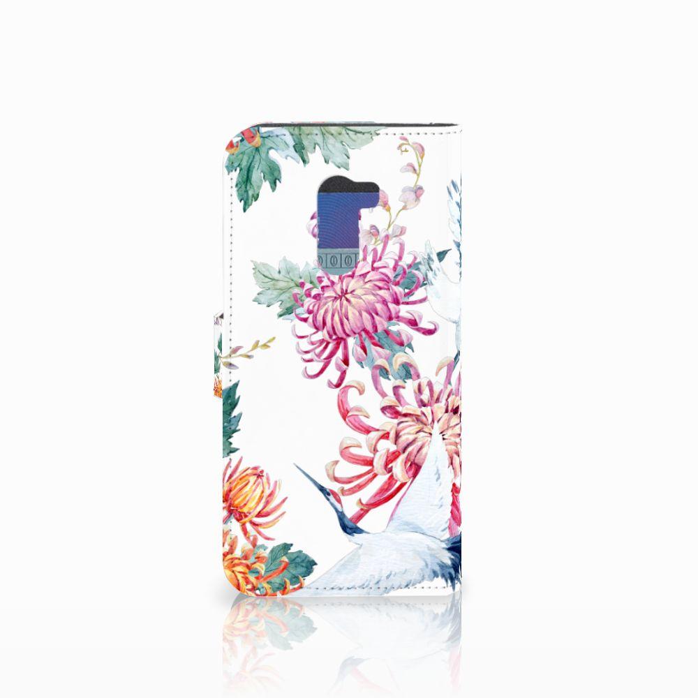 Xiaomi Pocophone F1 Telefoonhoesje met Pasjes Bird Flowers