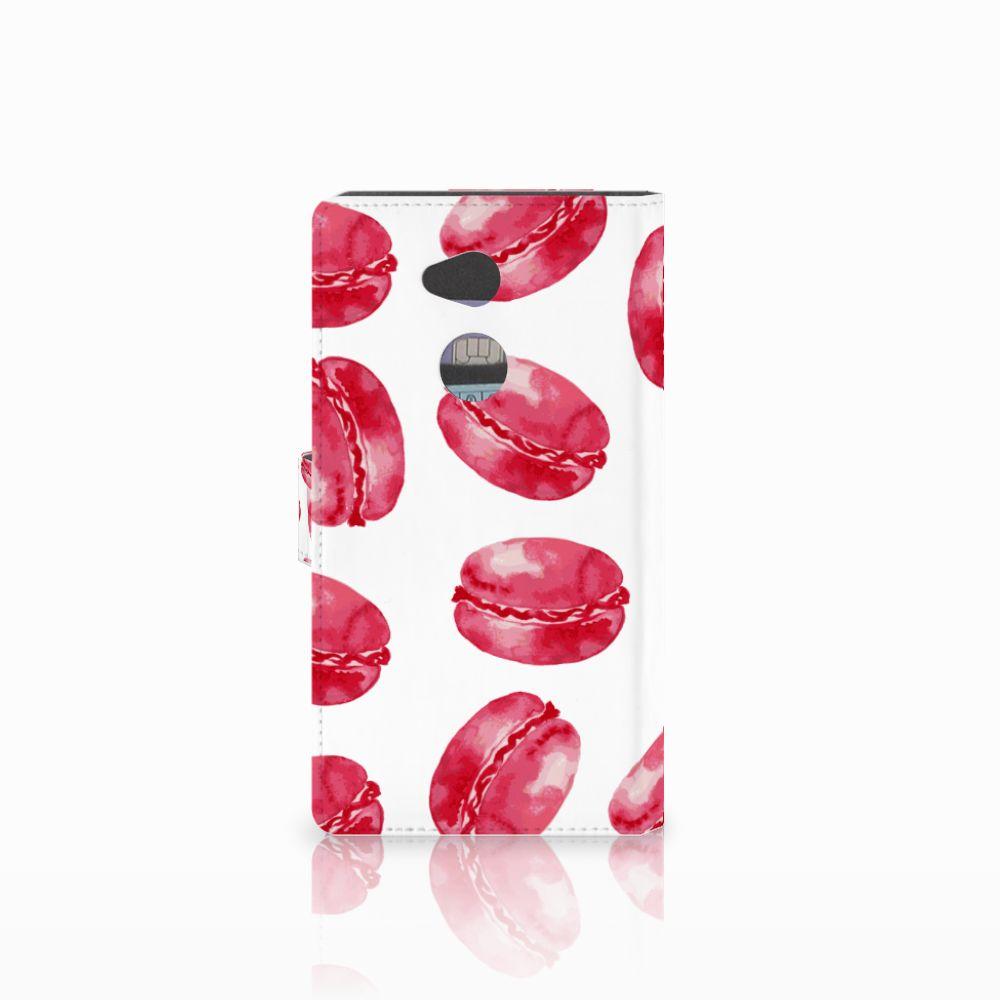Sony Xperia XA2 Ultra Book Cover Pink Macarons