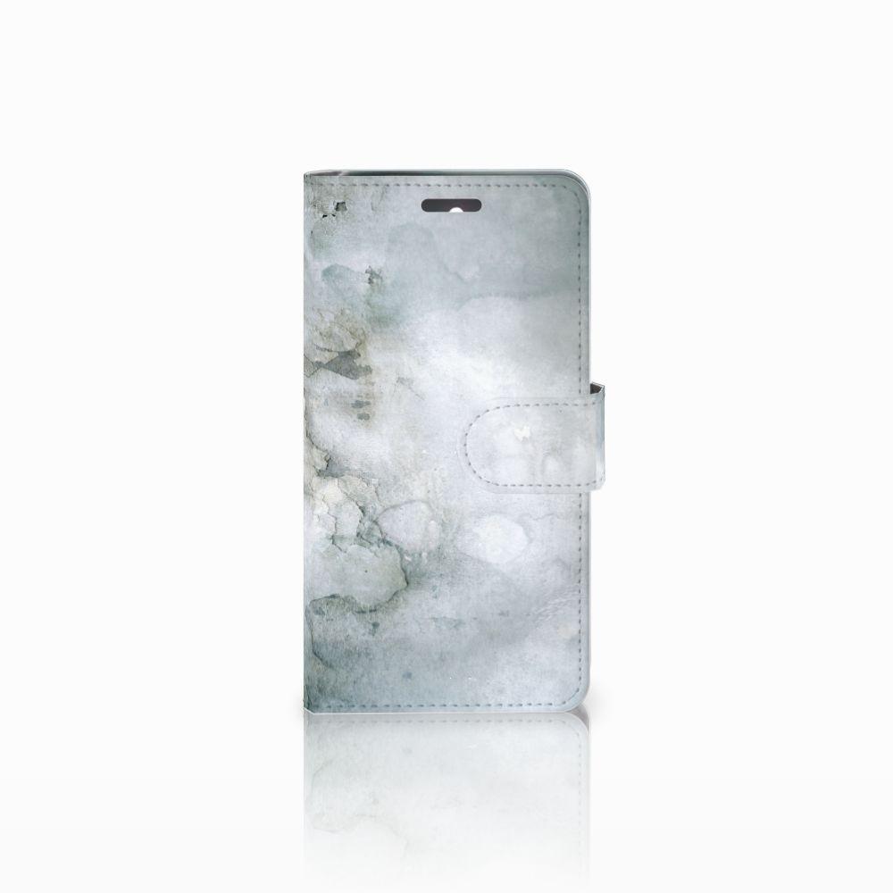 Lenovo K6 Uniek Boekhoesje Painting Grey
