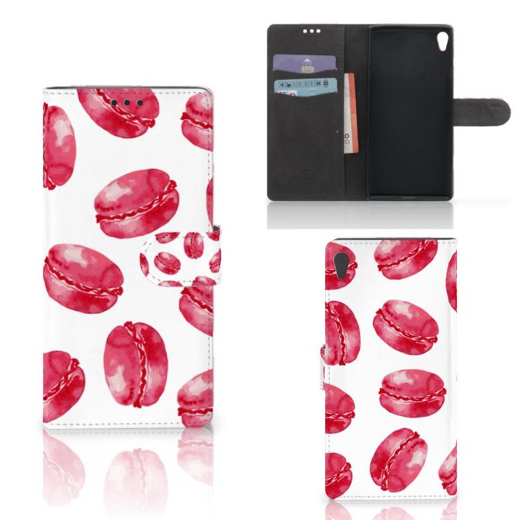 Sony Xperia XA Ultra Book Cover Pink Macarons