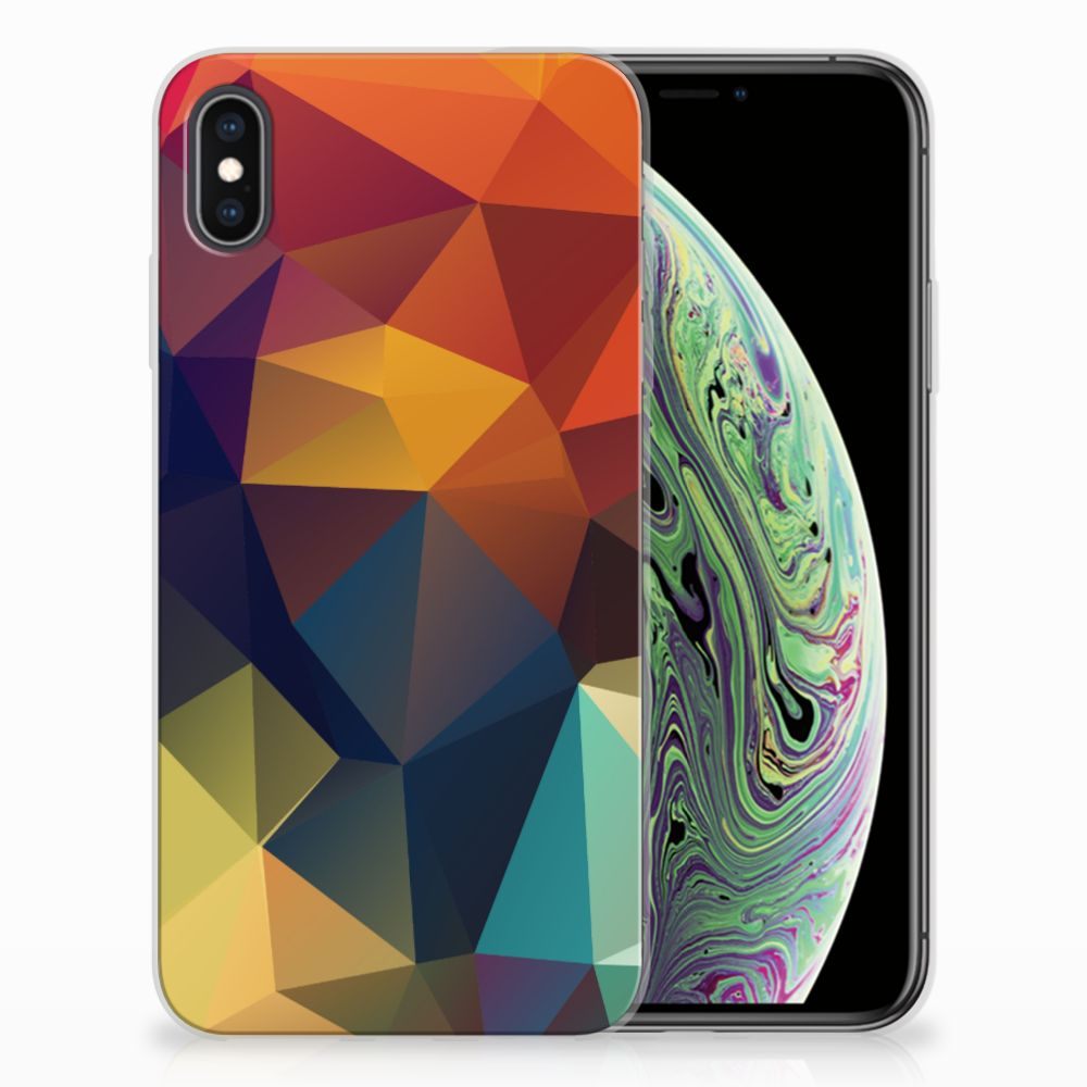 Apple iPhone Xs Max TPU Hoesje Polygon Color