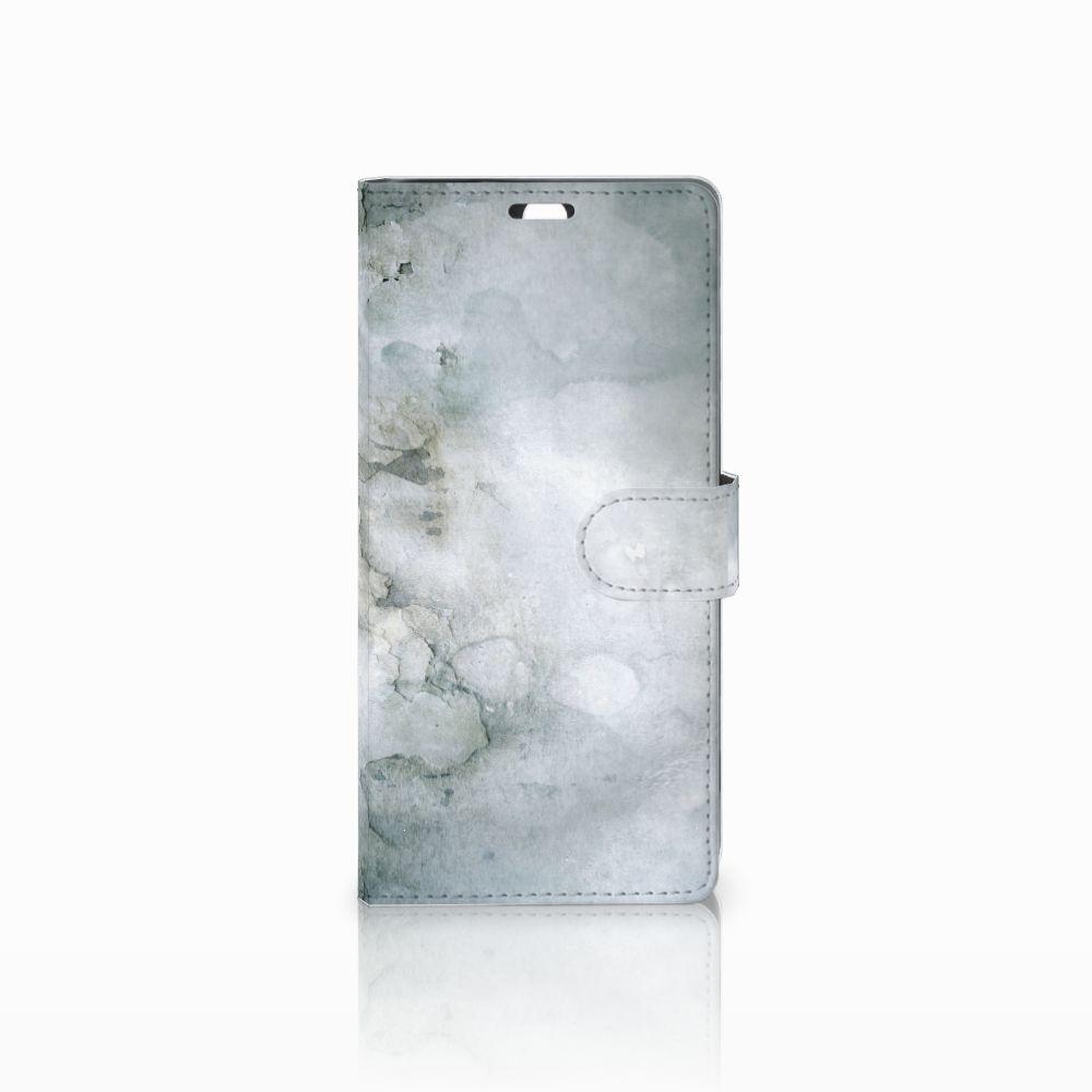 Sony Xperia C5 Ultra Uniek Boekhoesje Painting Grey