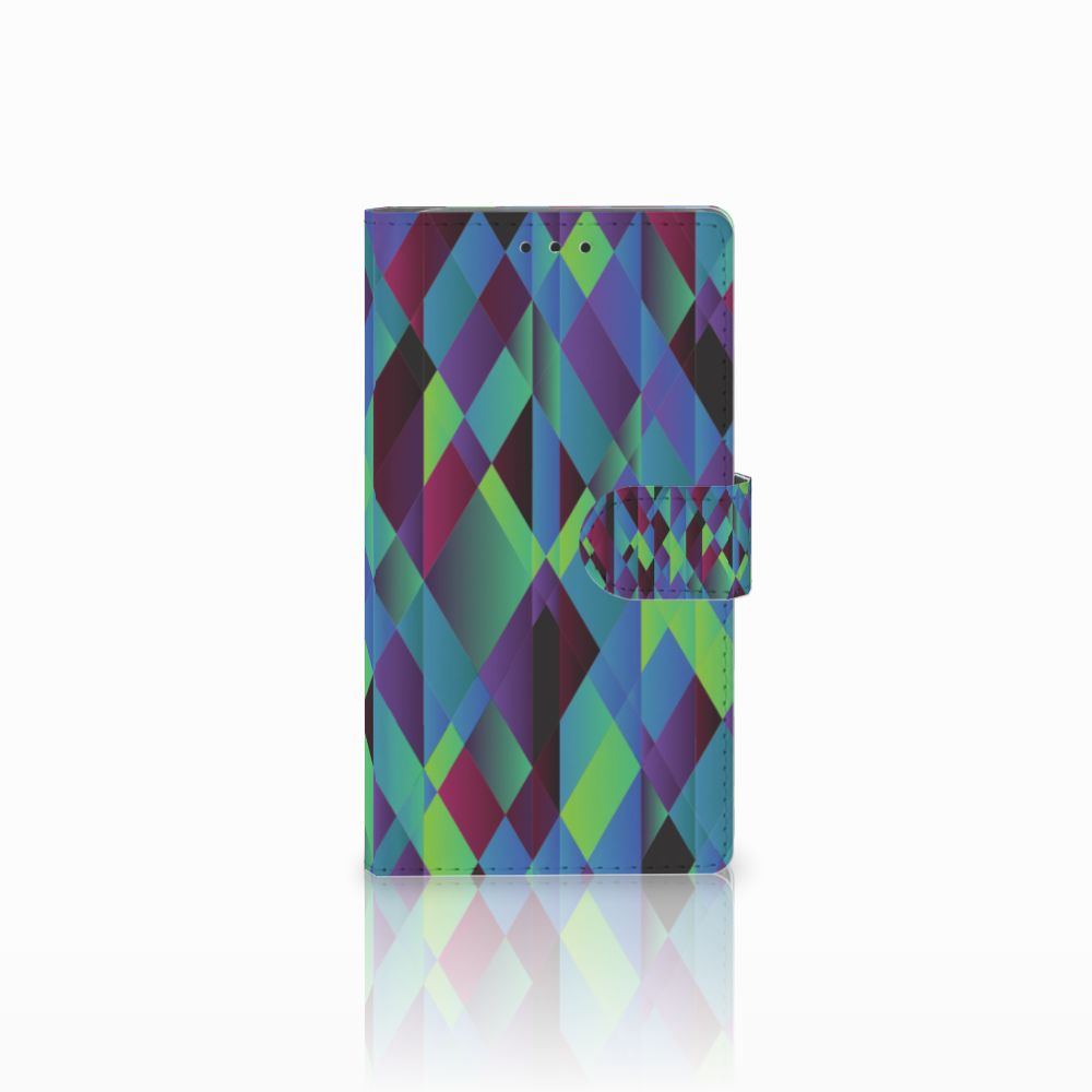 Samsung Galaxy Note 3 Bookcase Abstract Green Blue