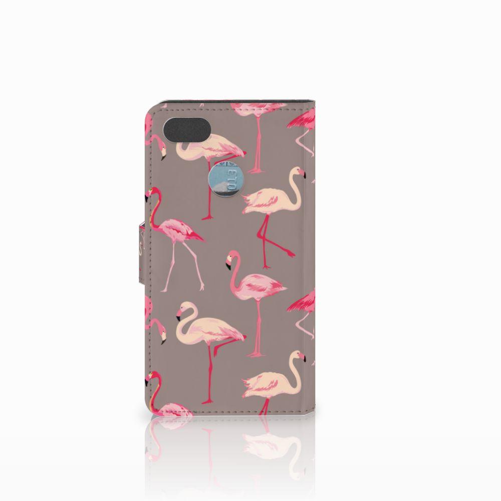 Huawei Y6 Pro 2017 Telefoonhoesje met Pasjes Flamingo