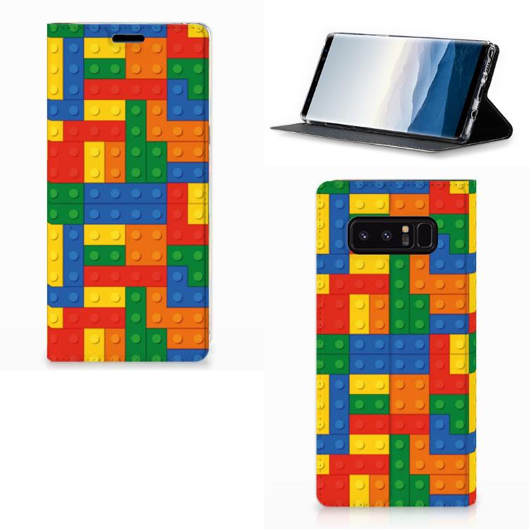 Samsung Galaxy Note 8 Standcase Hoesje Design Blokken