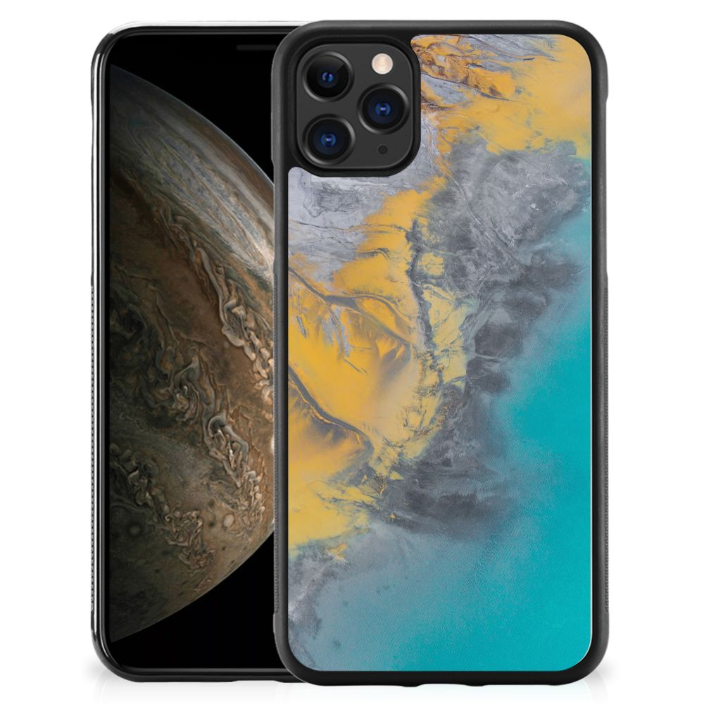 Apple iPhone 11 Pro Gripcase Marble Blue Gold