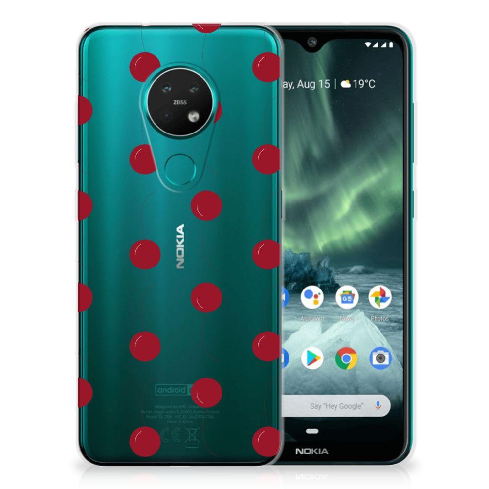 Nokia 7.2 | 6.2 Siliconen Case Cherries