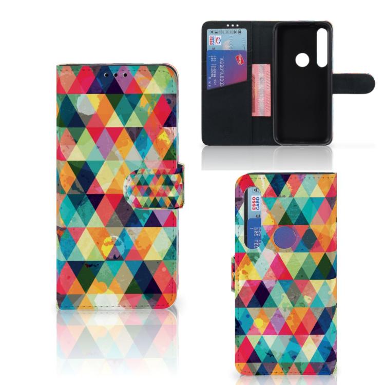 Motorola Moto G8 Plus Telefoon Hoesje Geruit