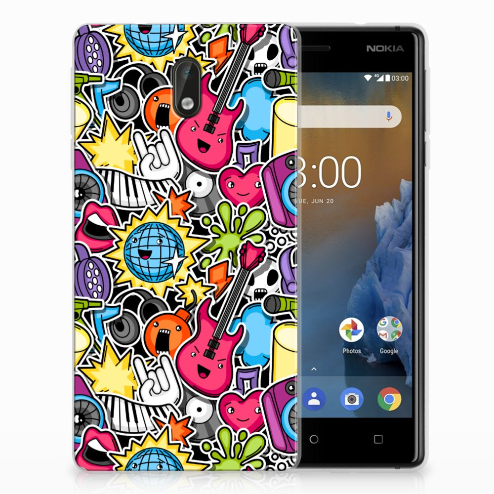 Nokia 3 Uniek TPU Hoesje Punk Rock