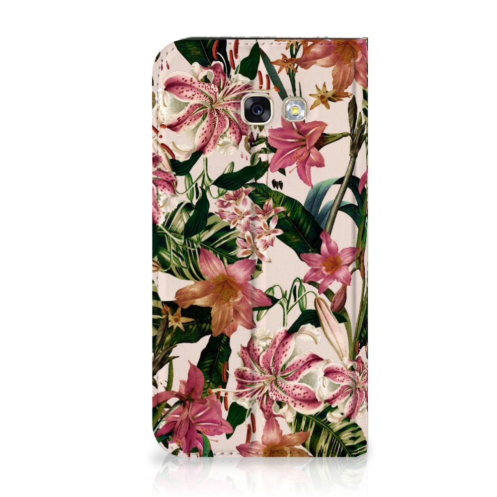 Samsung Galaxy A5 2017 Uniek Standcase Hoesje Flowers