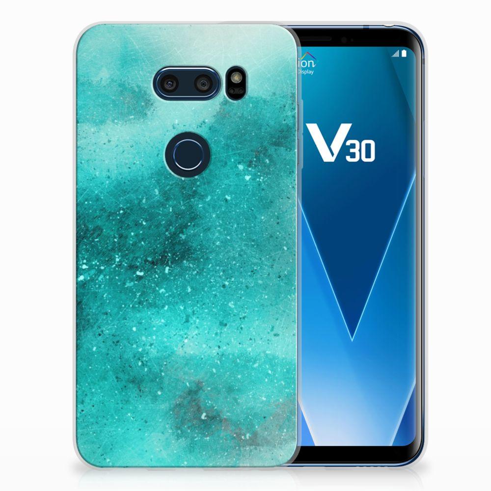 LG V30 Uniek TPU Hoesje Painting Blue