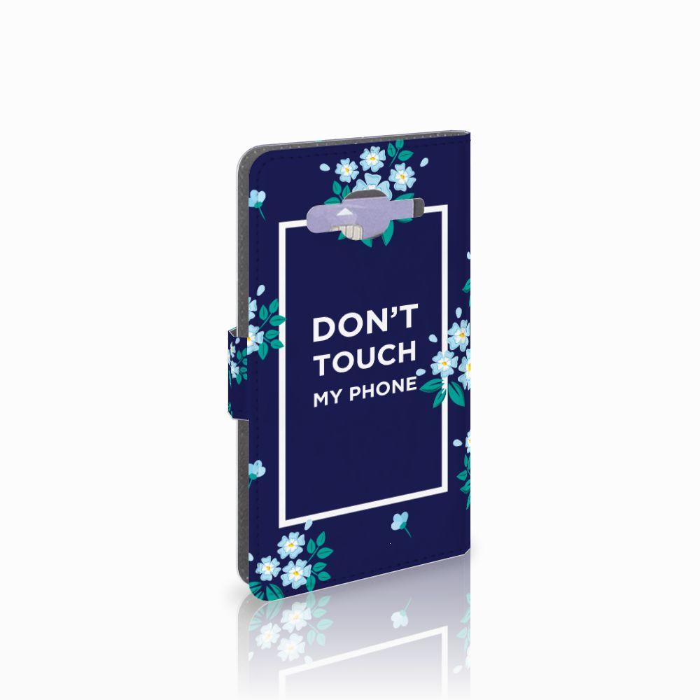 Samsung Galaxy J5 (2015) Boekhoesje Flowers Blue DTMP