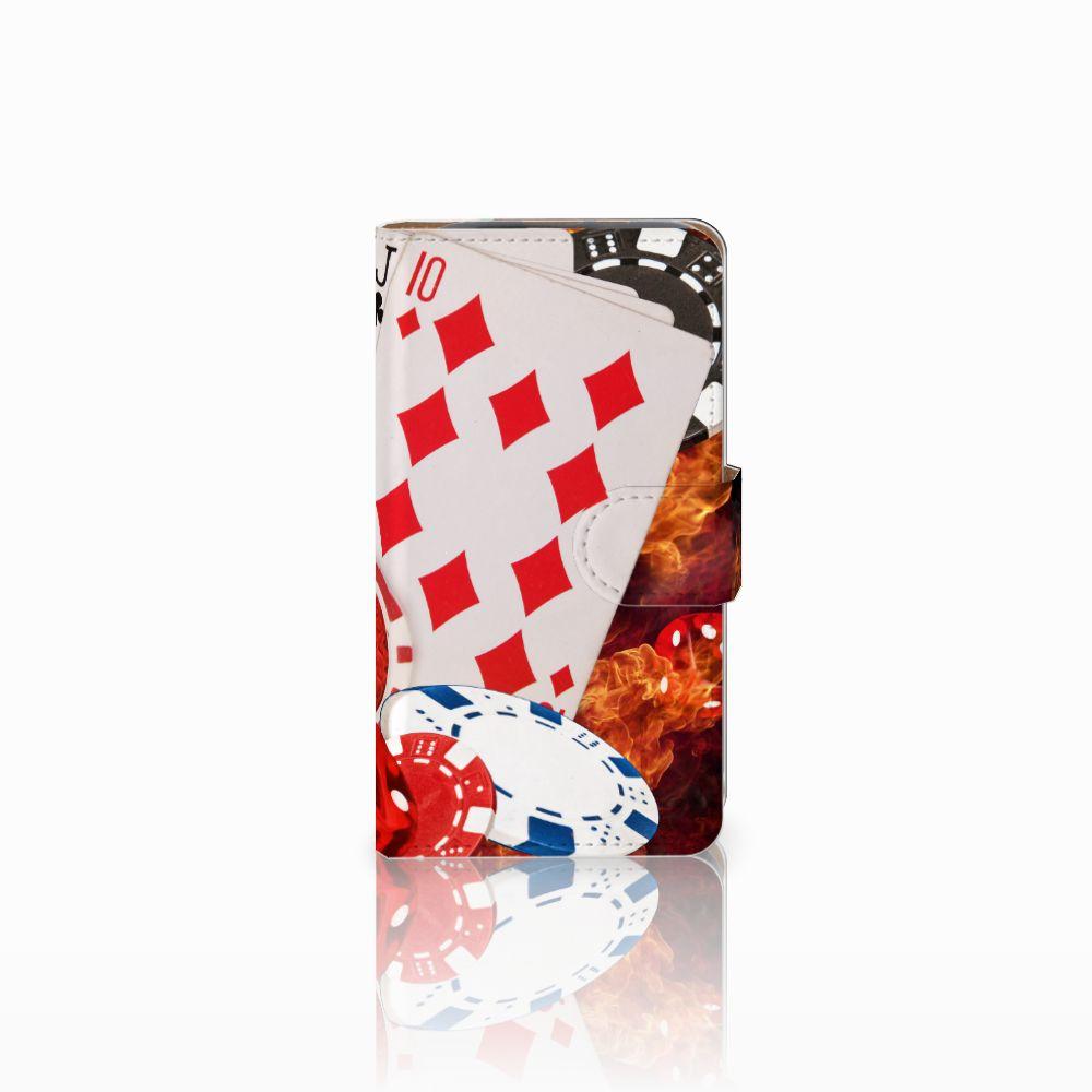 HTC Desire 310 Uniek Boekhoesje Casino