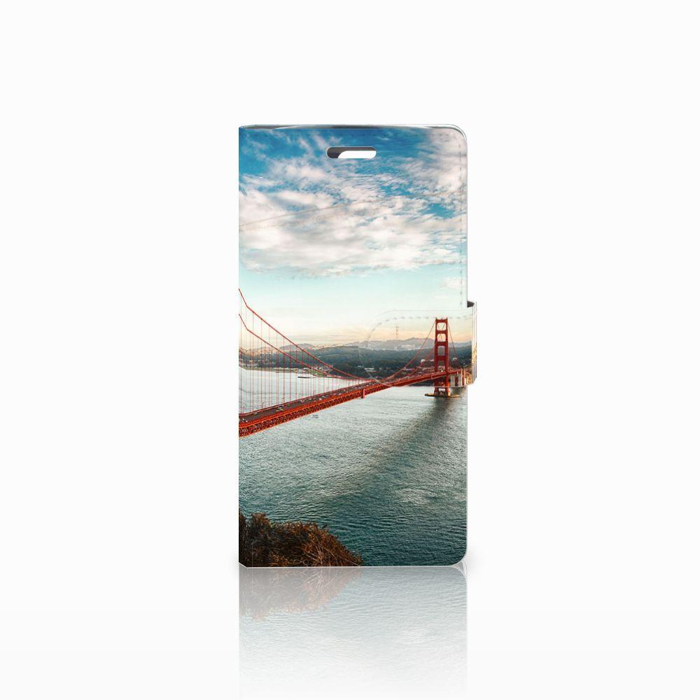 LG K10 2015 Boekhoesje Design Golden Gate Bridge