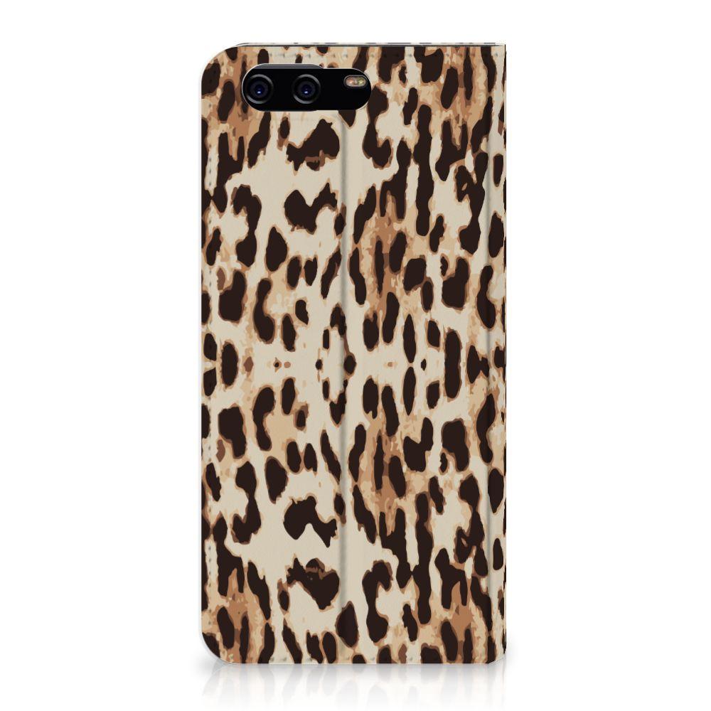 Huawei P10 Uniek Standcase Hoesje Leopard
