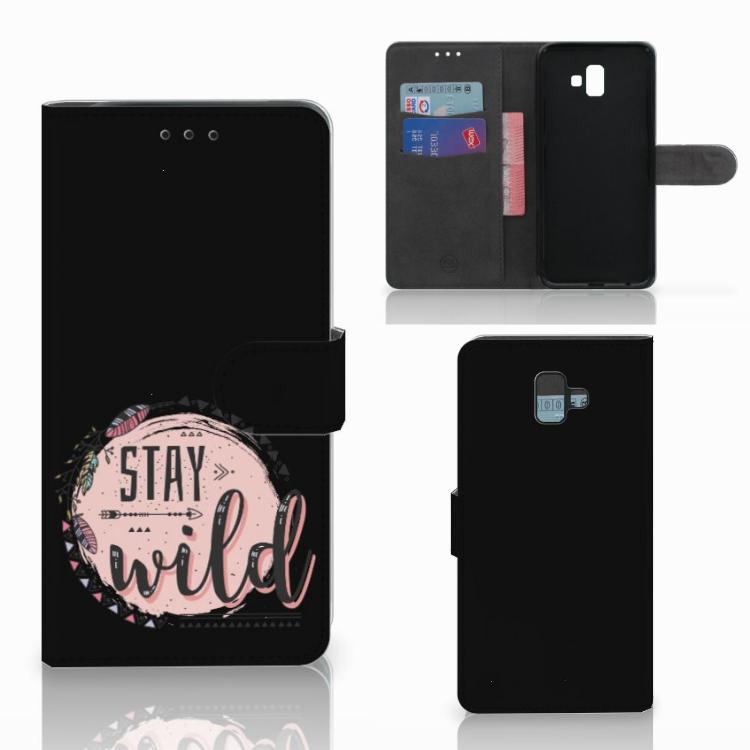 Samsung Galaxy J6 Plus (2018) Leuk Hoesje Boho Stay Wild