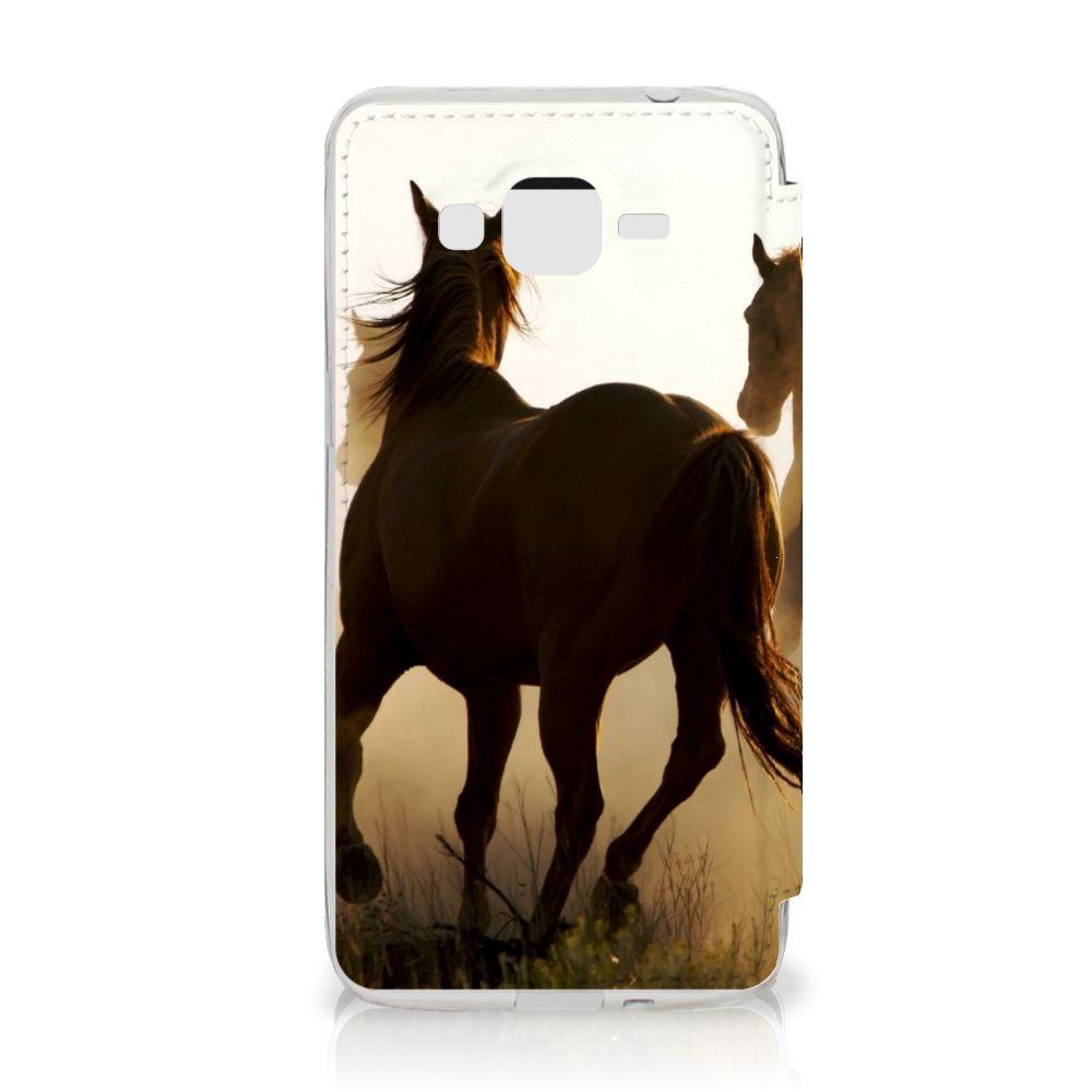 Samsung Galaxy Grand Prime Telefoonhoesje met Pasjes Design Cowboy