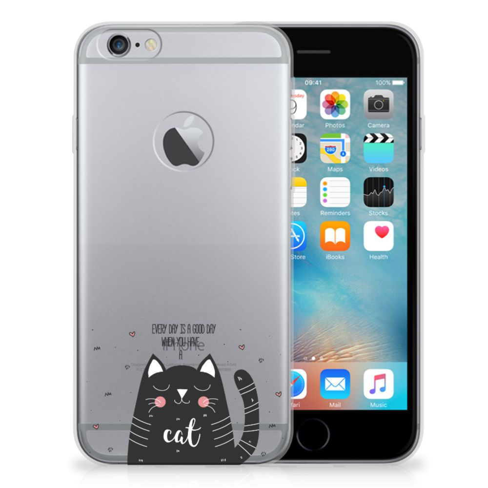 Apple iPhone 6 Plus | 6s Plus Telefoonhoesje met Naam Cat Good Day