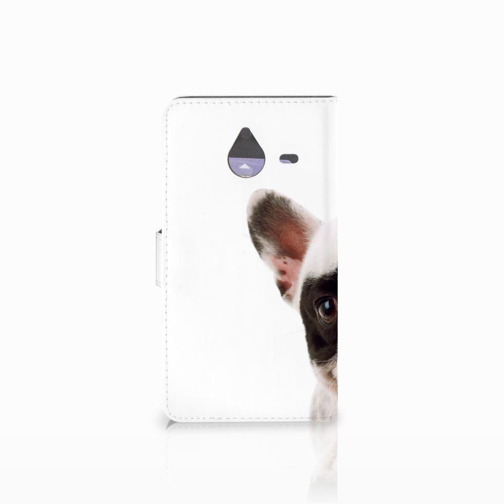 Microsoft Lumia 640 XL Telefoonhoesje met Pasjes Franse Bulldog