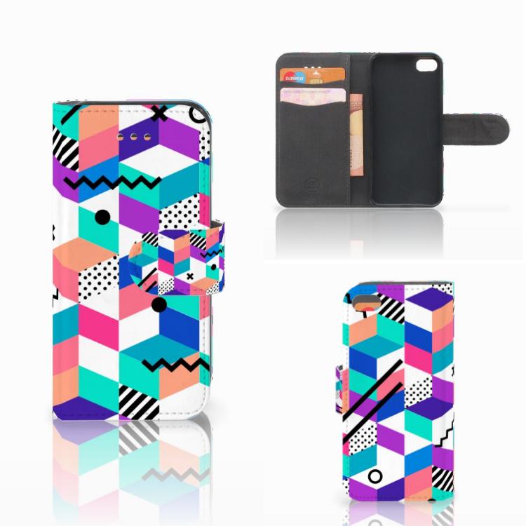 Apple iPhone 5C Bookcase Blokken Kleurrijk