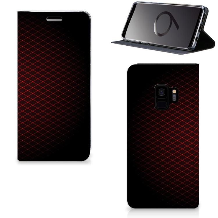 Samsung Galaxy S9 Hoesje met Magneet Geruit Rood
