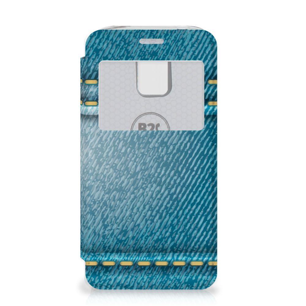 Samsung Galaxy S5 Mini Wallet Case met Pasjes Jeans