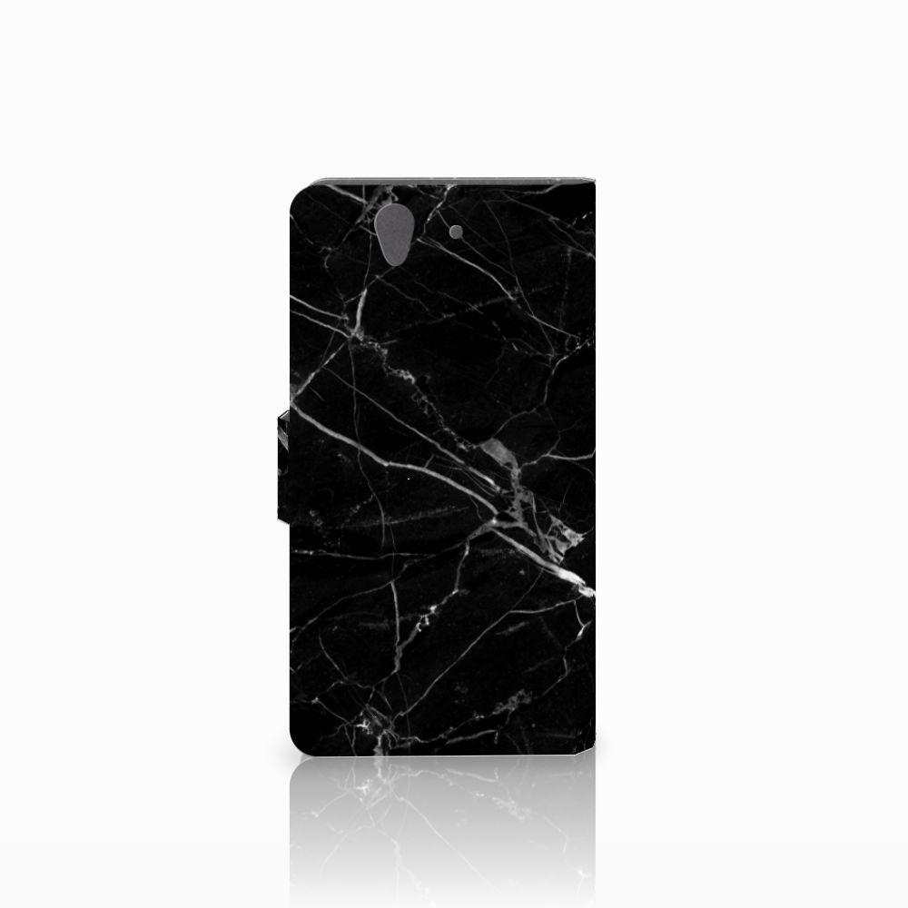Sony Xperia Z Bookcase Marmer Zwart
