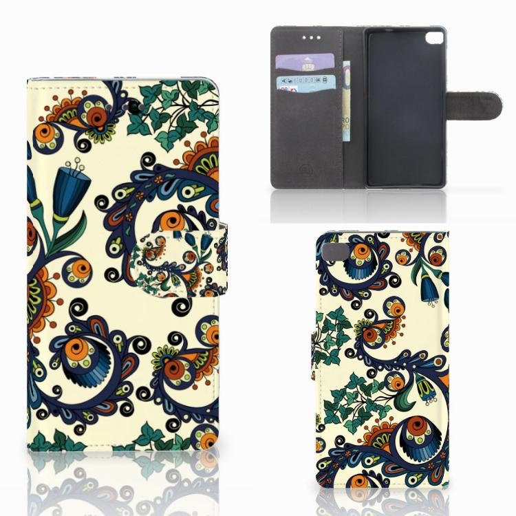 Wallet Case Huawei P8 Barok Flower