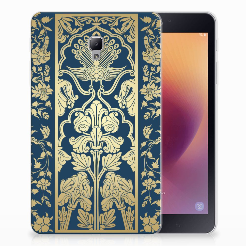 Samsung Galaxy Tab A 8.0 (2017) Siliconen Hoesje Golden Flowers
