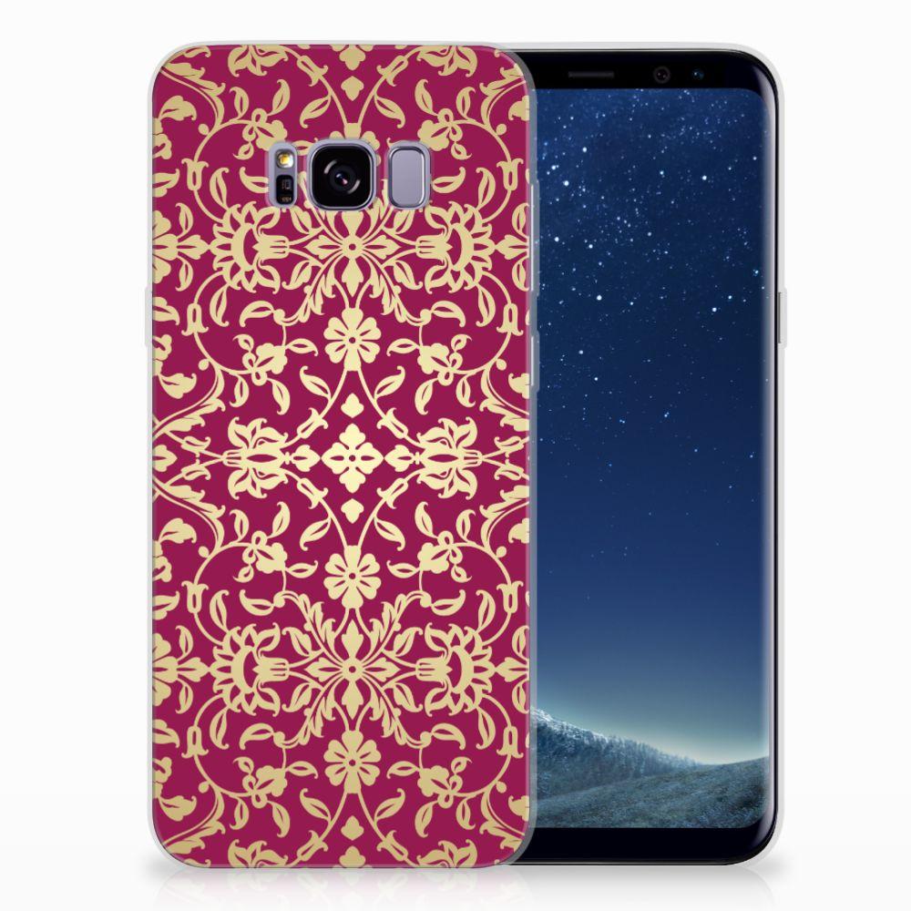 Samsung Galaxy S8 Plus TPU Hoesje Design Barok Pink