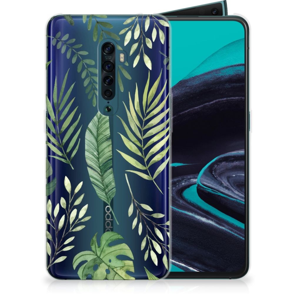 OPPO Reno 2 TPU Case Leaves