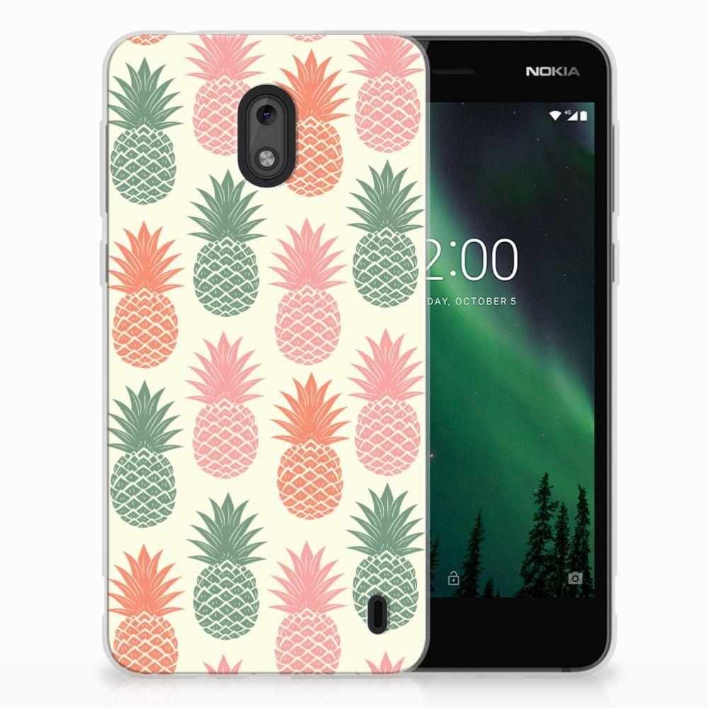 Nokia 2 Siliconen Case Ananas