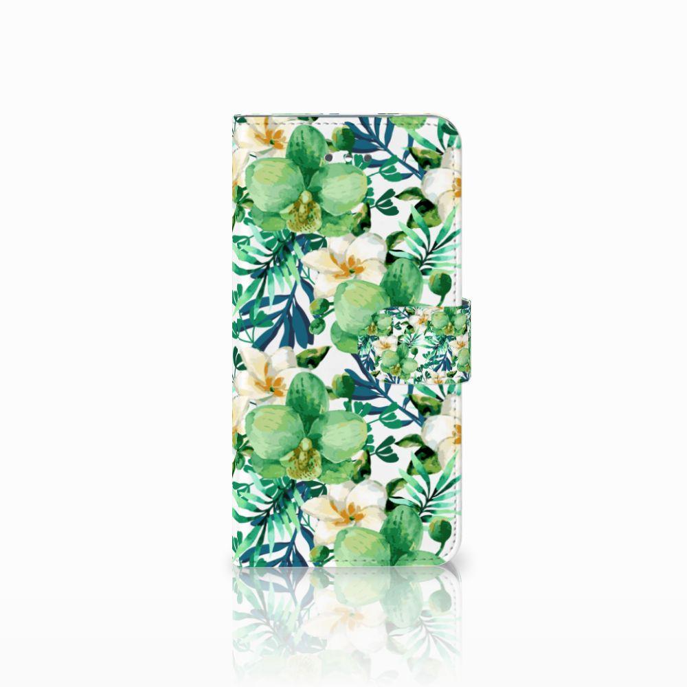 LG Nexus 5X Uniek Boekhoesje Orchidee Groen