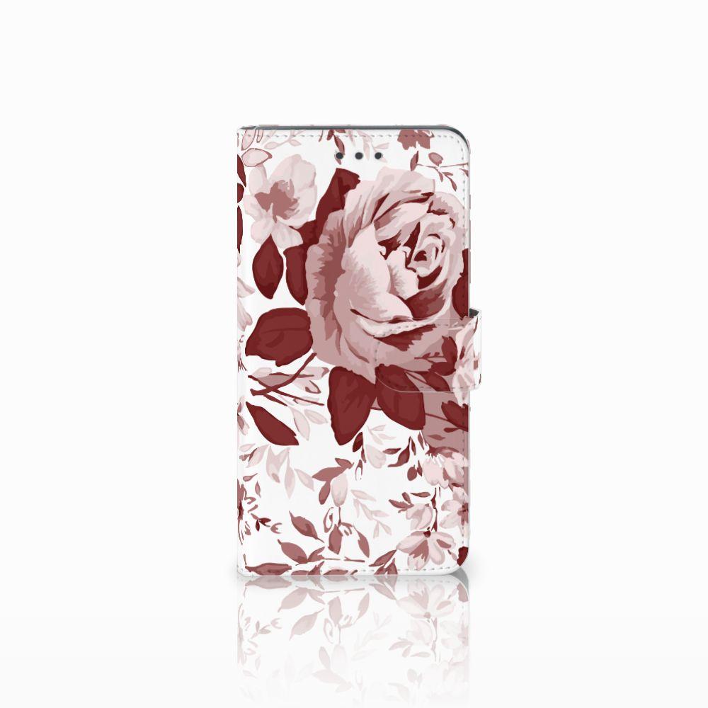 Huawei Mate 8 Uniek Boekhoesje Watercolor Flowers
