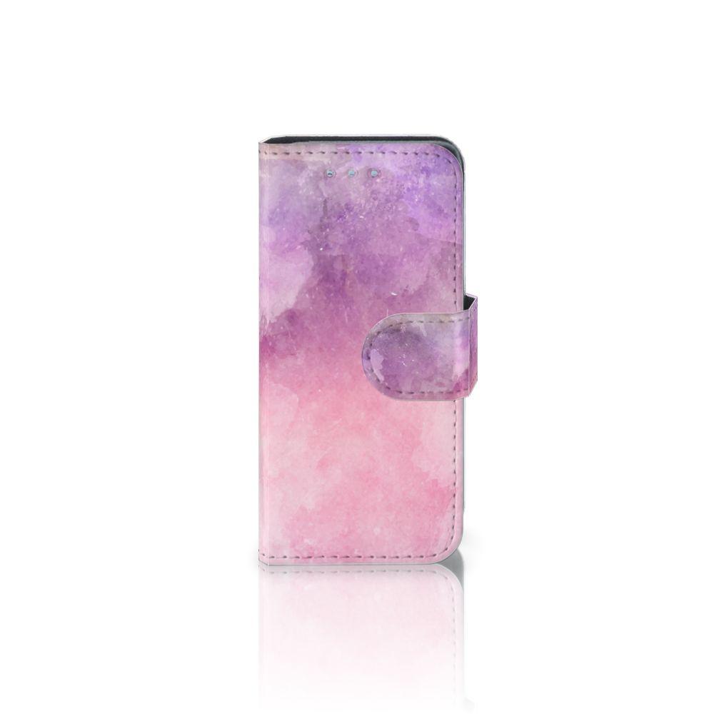 Samsung Galaxy S4 Mini i9190 Boekhoesje Design Pink Purple Paint