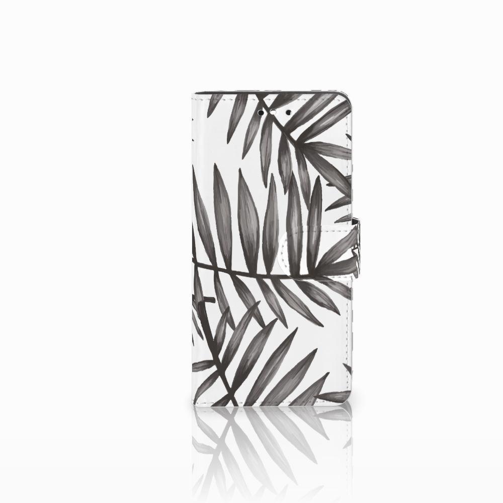 Huawei P8 Lite Smart (GR3) Uniek Boekhoesje Leaves Grey
