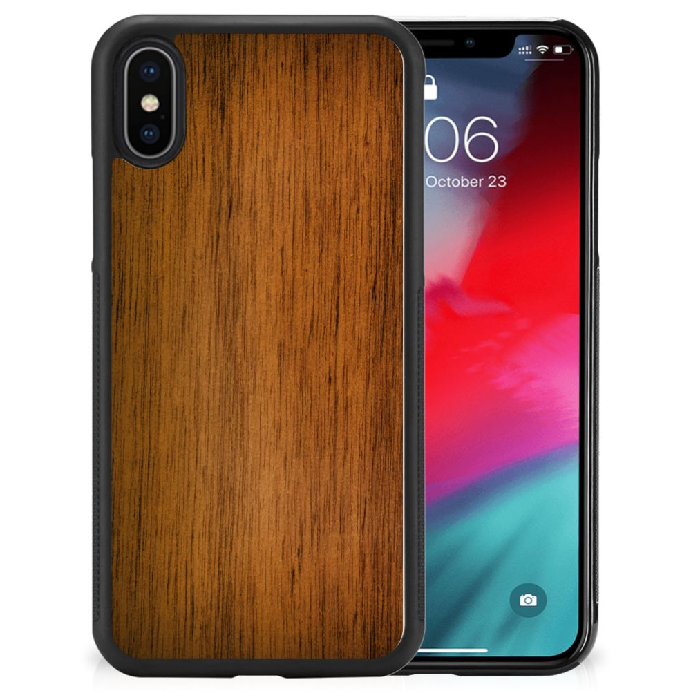 Apple iPhone Xs | X/10 Grip Case Donker Hout