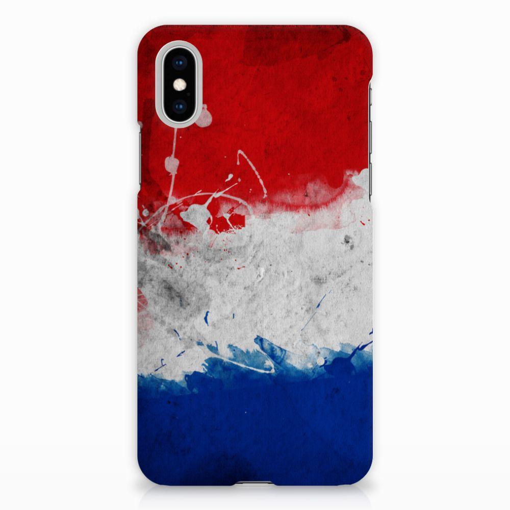 Apple iPhone X | Xs Uniek Hardcase Hoesje Nederlandse Vlag
