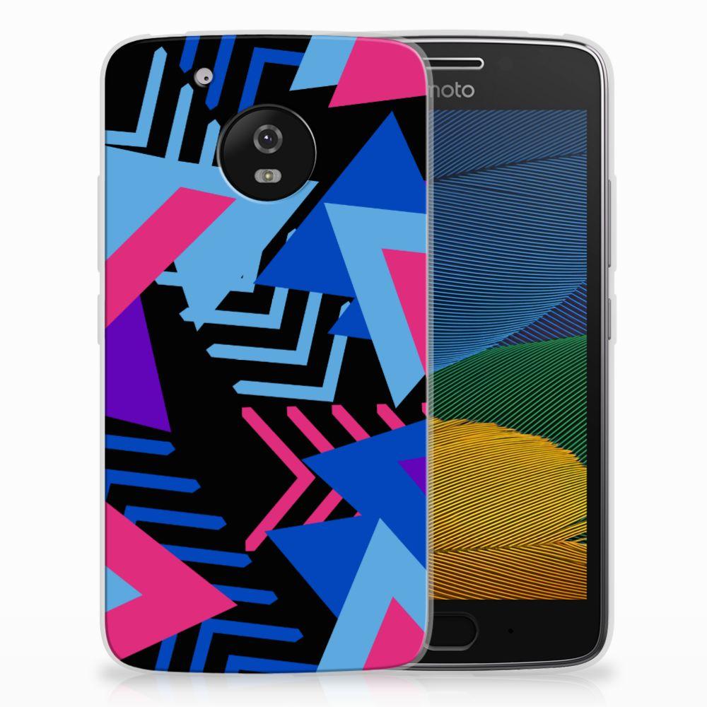 Motorola Moto G5 TPU Hoesje Funky Triangle